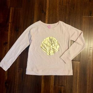 Lilly Pulitzer Kids pink/gold shell top XL 12/14